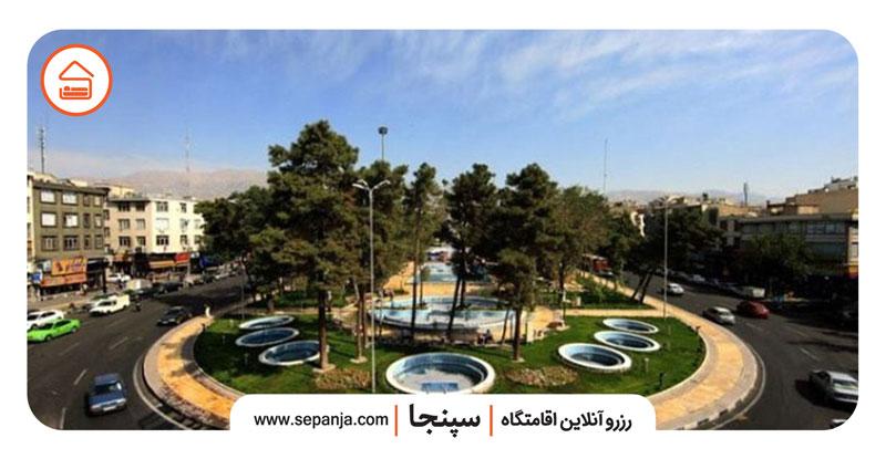 نمایی از میدان هفت حوض تهران