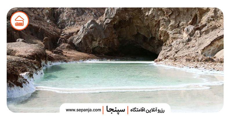 نمایی از غار خرسین در بندرعباس