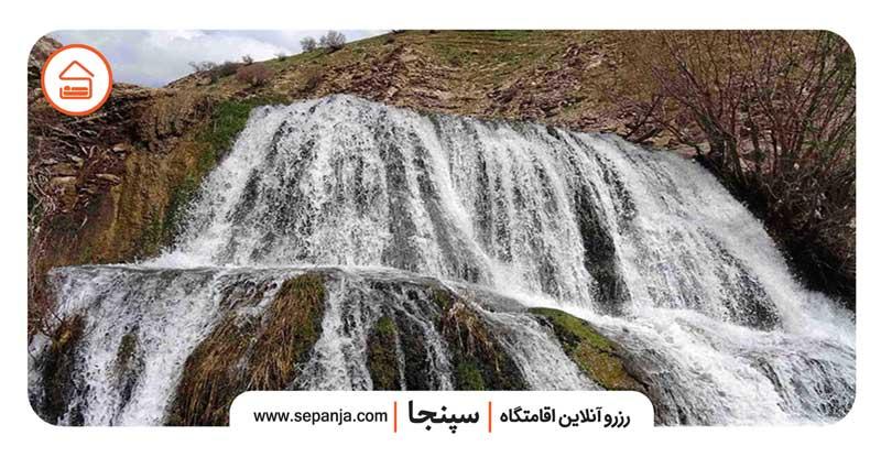 نمایی از آبشار گریت از بهترین جاهای دیدنی خرم آباد