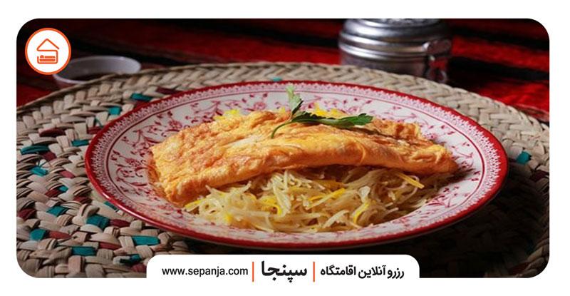 نمایی از بلالیت به عنوان یکی از غذاهای محلی بندرعباس