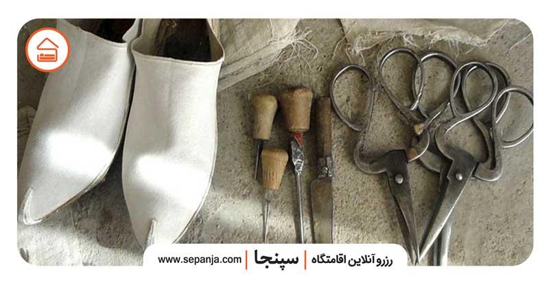 گیوه دوزی از صنایع دستی خرم آباد