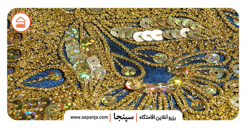 گلابتون دوزی از صنایع دستی بندرعباس