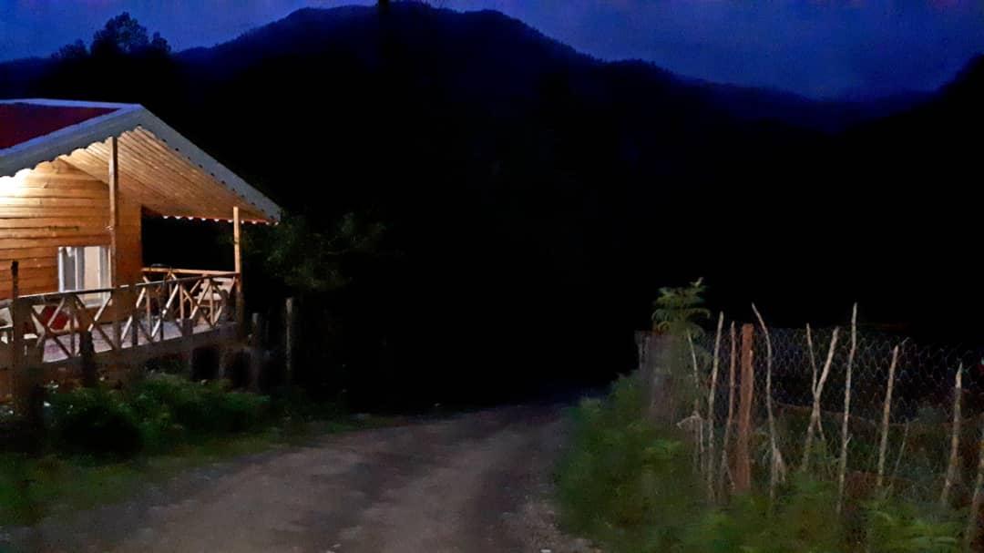 جنگلی کلبه چوبی جنگلی در خروم ماسال